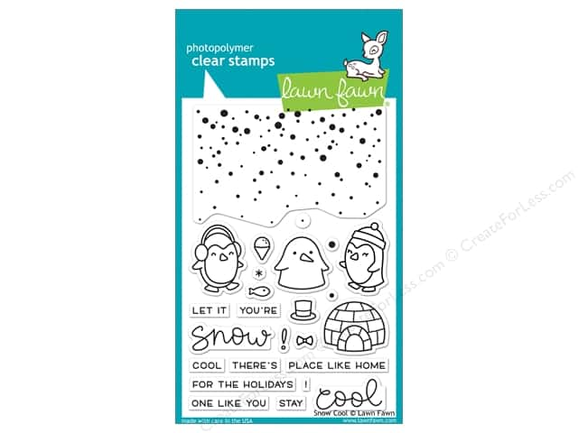 Lawn Fawn Clear Stamp Snow Cool