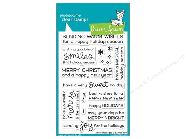 Lawn Fawn Clear Stamp Merry Messages