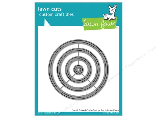 Lawn Fawn Lawn Cuts Craft Die Small Dotted Circle Stackables
