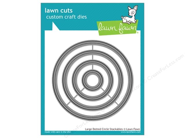 Lawn Fawn Lawn Cuts Craft Die Large Dotted Circle Stackables