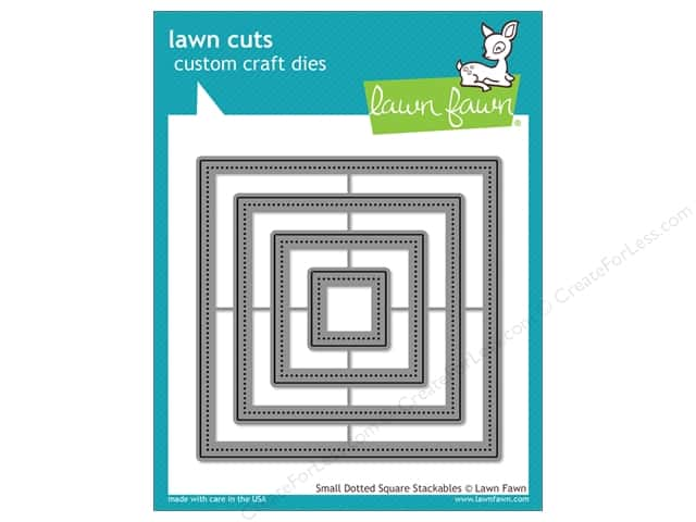 Lawn Fawn Lawn Cuts Craft Die Small Dotted Square Stackables