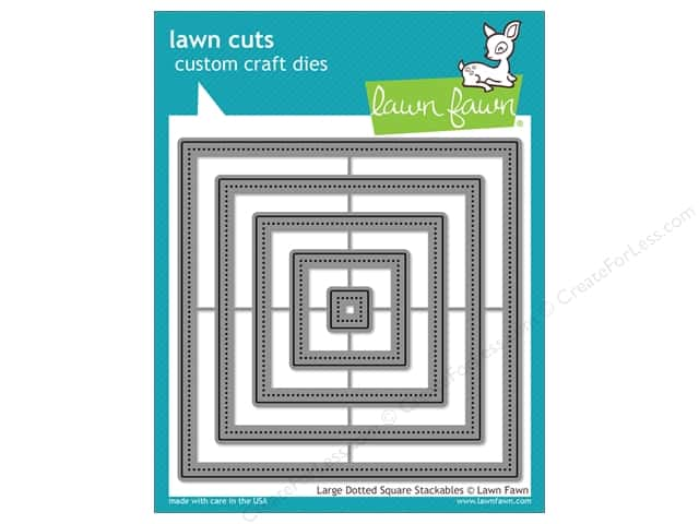 Lawn Fawn Lawn Cuts Craft Die Large Dotted Square Stackables