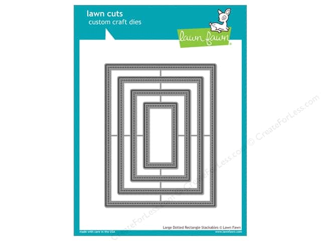 Lawn Fawn Lawn Cuts Craft Die Large Dotted Rectangle Stackables