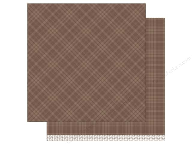 """Lawn Fawn Collection Perfectly Plaid Paper 12""""x 12"""" Cinnamon Spice (12 sheets)"""