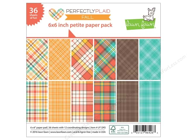 "Lawn Fawn Collection Perfectly Plaid Paper Pack 6""x 6"""