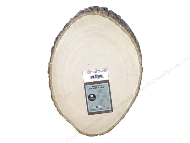 Walnut Hollow Basswood Country Round 11 - 13 in. Extra Large