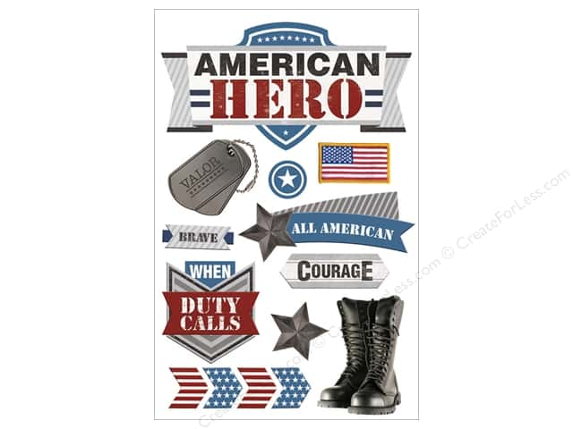 Paper House Sticker 3D American Hero 2