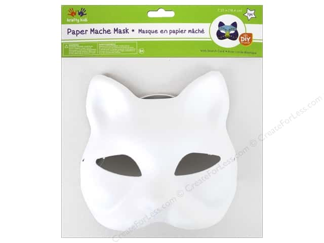 Multicraft Krafty Kids DIY Paper Mache Mask w/Band Fox