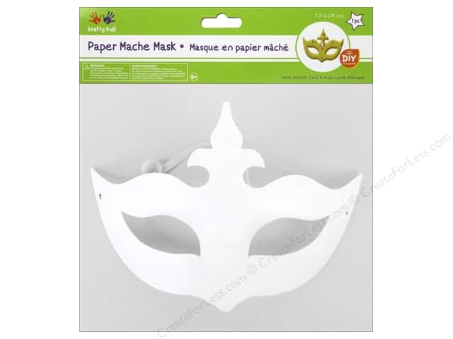 Multicraft Krafty Kids DIY Paper Mache Mask w/Band Regal