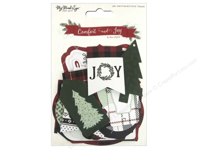 My Mind's Eye Comfort & Joy Collection Decorative Tags