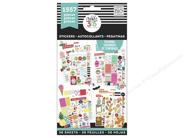 Me&My Big Ideas Create 365 Happy Planner Sticker Value Pack Brilliant Year