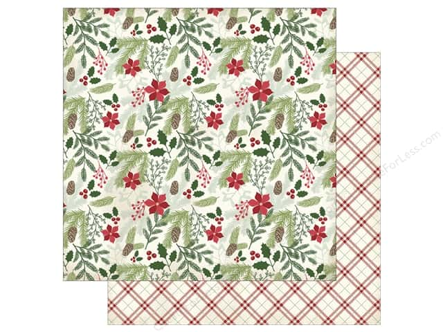 My Mind's Eye 12 x 12 in. Paper Comfort & Joy Evergreen & Holly (25 sheets)