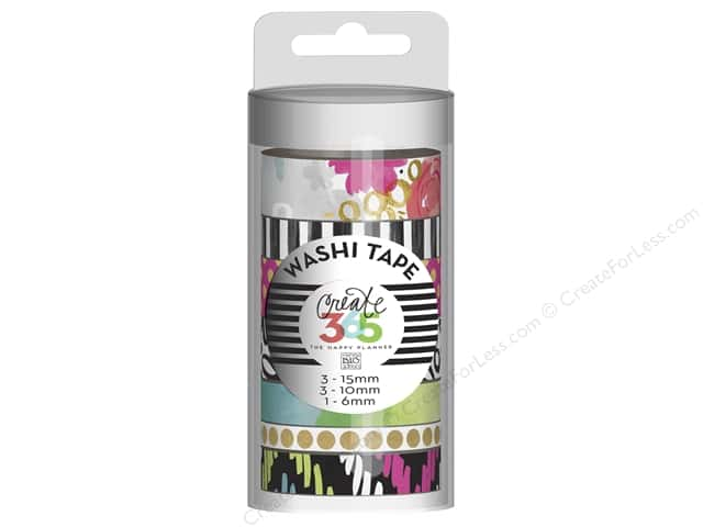 Me&My Big Ideas Collection Create 365 Happy Planner Washi Tape Live Loud