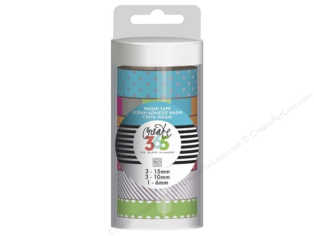 Me&My Big Ideas Create 365 Happy Planner Washi Tape Neon