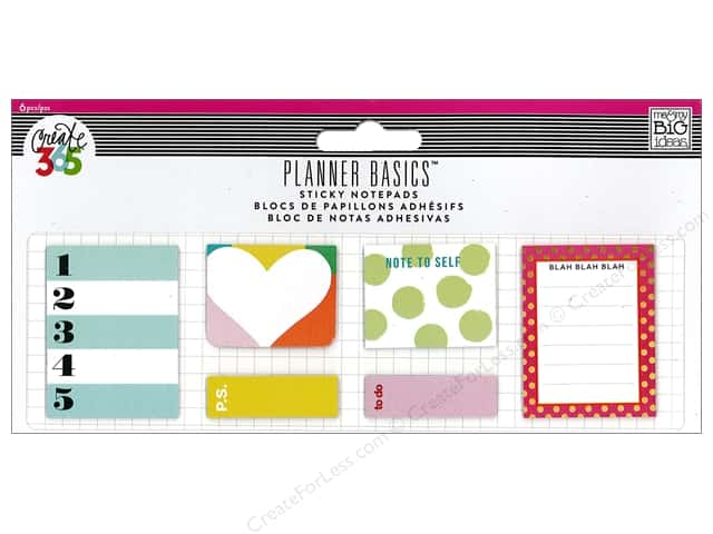 Me&My Big Ideas Create 365 Happy Planner Sticky Notespads Bright