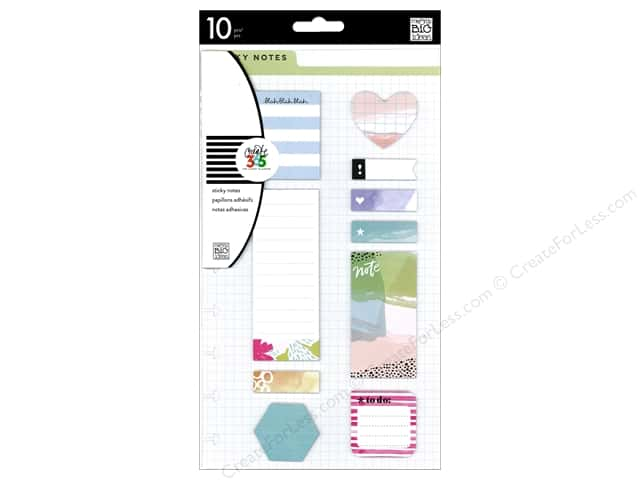 Me&My Big Ideas Collection Create 365 Happy Planner Sticky Notes Watercolor