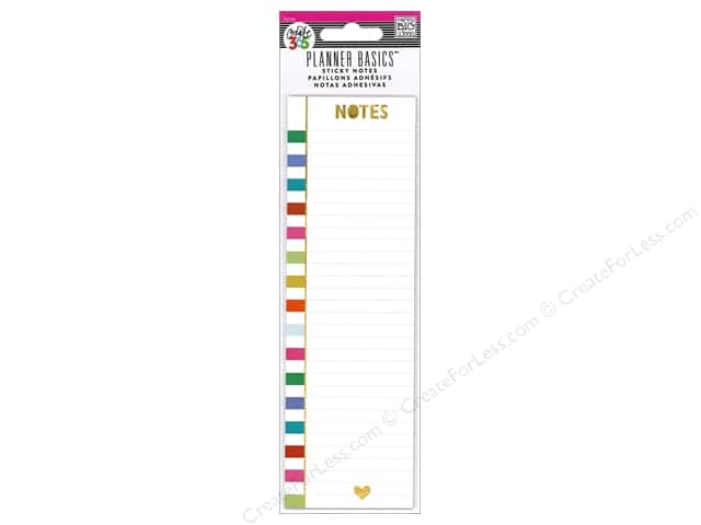 Me&My Big Ideas Create 365 Happy Planner Sticky Notes Bright Stripe