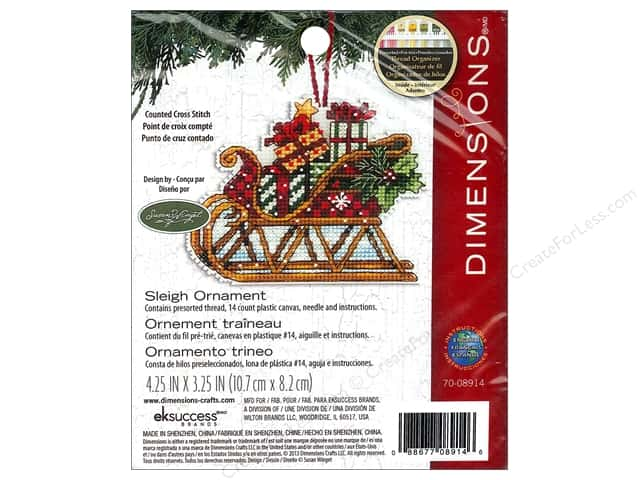 Dimensions Cross Stitch Kit Susan Winget Ornament Sleigh