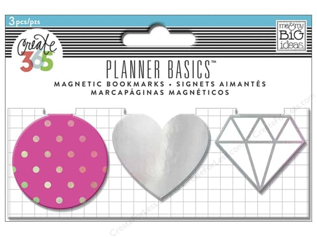 Me & My Big Ideas Create 365 Happy Planner Magnetic Page Clips 3 pc. Neon
