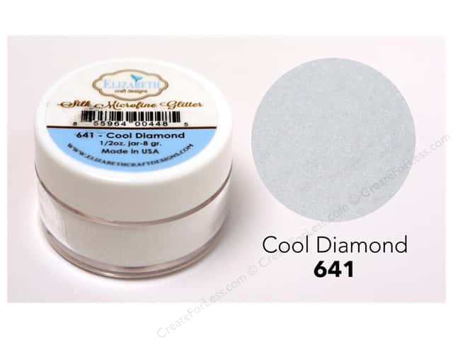 Elizabeth Craft Silk Microfine Glitter 1/2 oz. Cool Diamond