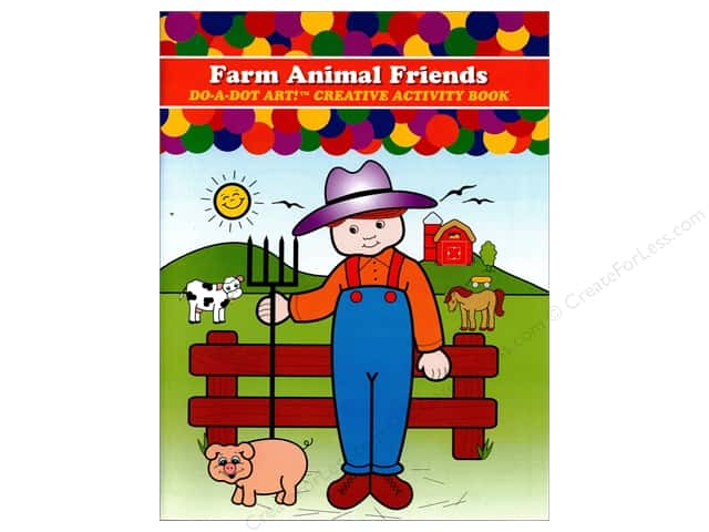 Do-A-Dot Art Activity Book Farm Animal Friends