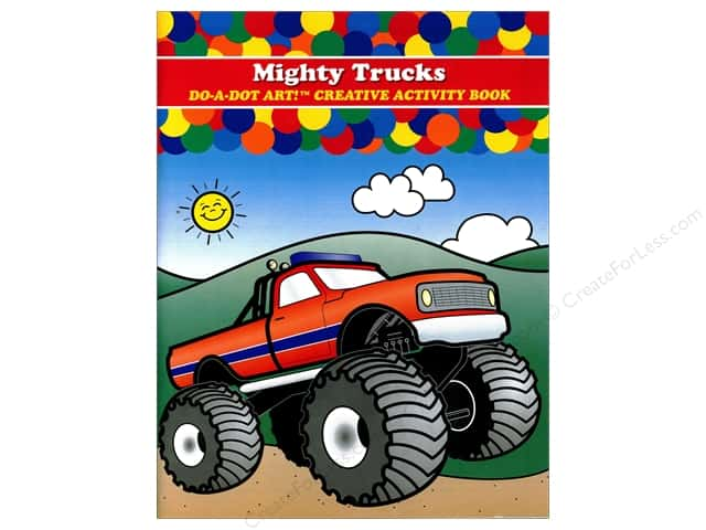 Do-A-Dot Art Activity Book Mighty Trucks