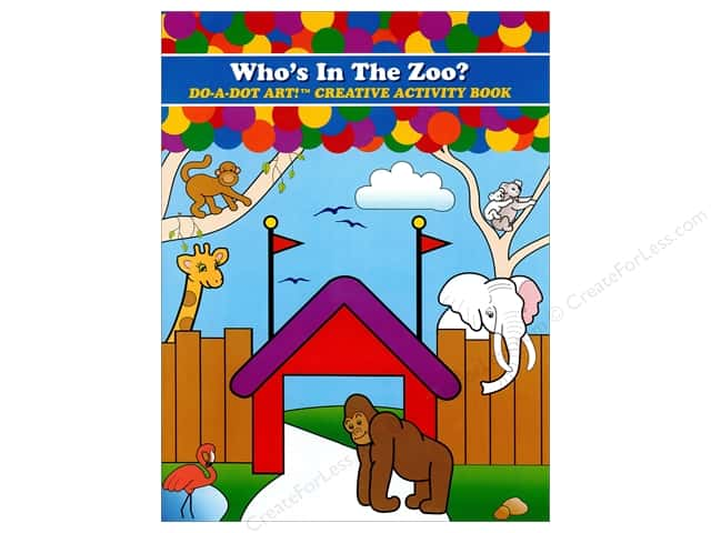 Do-A-Dot Art Activity Book Who's In The Zoo