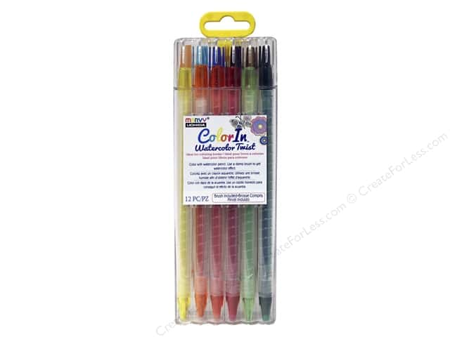 Uchida ColorIn Watercolor Twist 12pc