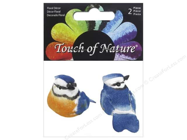 Midwest Design Artificial Birds 1 1/2 in. Mini Blue Jay 2 pc.