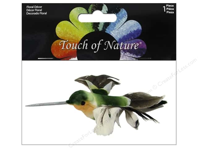 Midwest Design Artificial Birds 4 1/4 in. Feather Hummingbird 1 pc.