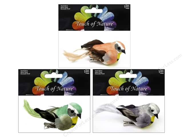 Midwest Design Artificial Birds 3 1/2 in. Feather Assorted 1 pc.