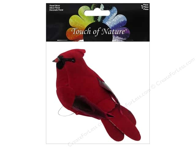 Midwest Design Artificial Birds 4 1/2 in. Feather Cardinal 1 pc.