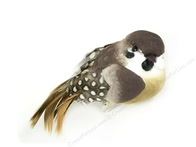 "Midwest Design Birds 3"" Feathered Guinea With Clip"