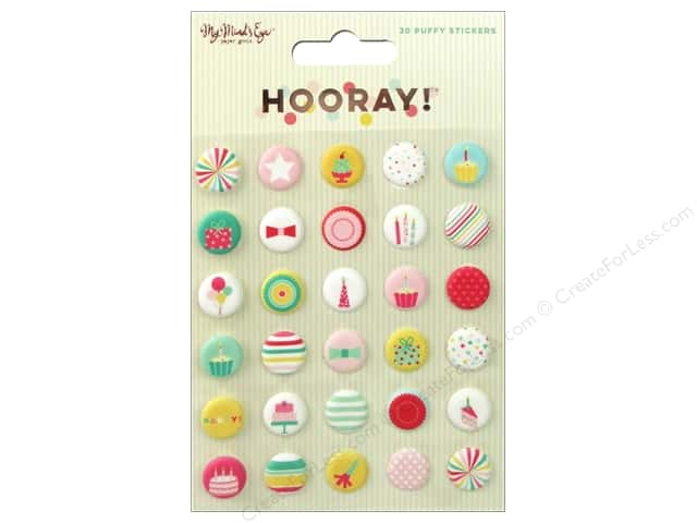 My Mind's Eye Hooray Collection Sticker Puffy