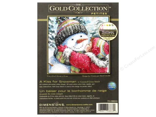Dimensions Cross Stitch Kit Kiss For Snowman