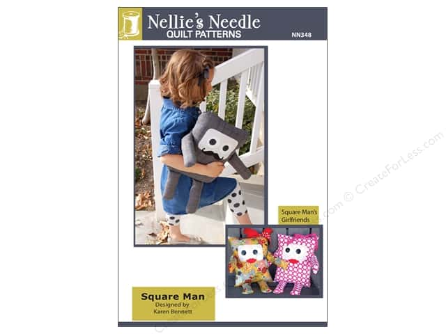 Nellie's Needle Square Man Pillow Doll Pattern