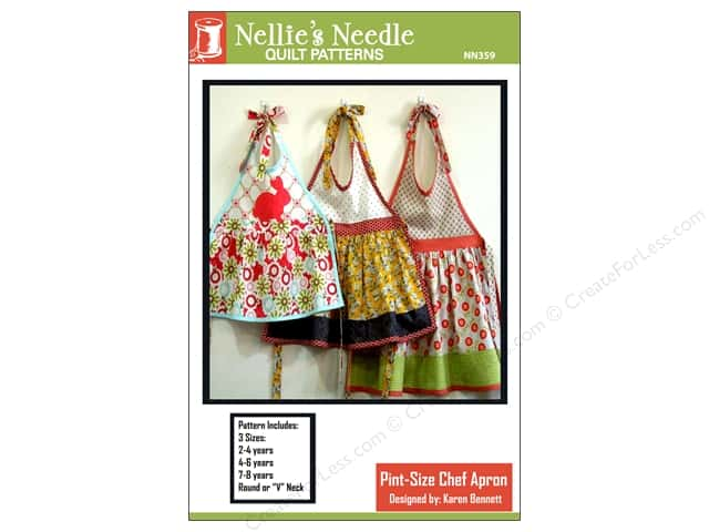Nellie's Needle Pint-Size Chef Apron 2-8 Years Pattern