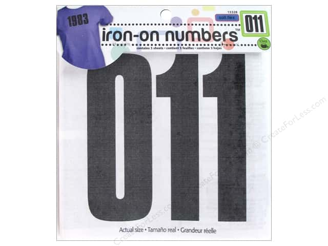 Iron-On Numbers by Dritz 5 in. Black