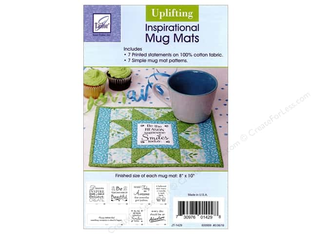 June Tailor Inspirational Mug Mat Panel Uplifting & Pattern