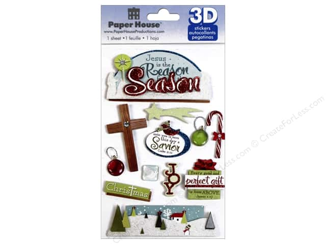 Paper House Sticker 3D Reason for the Season