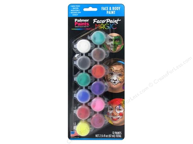 Palmer Face Paint Set Magic 12 Pot