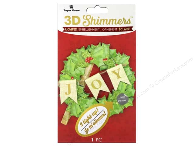 Paper House Sticker 3D LED Shimmer Wreath