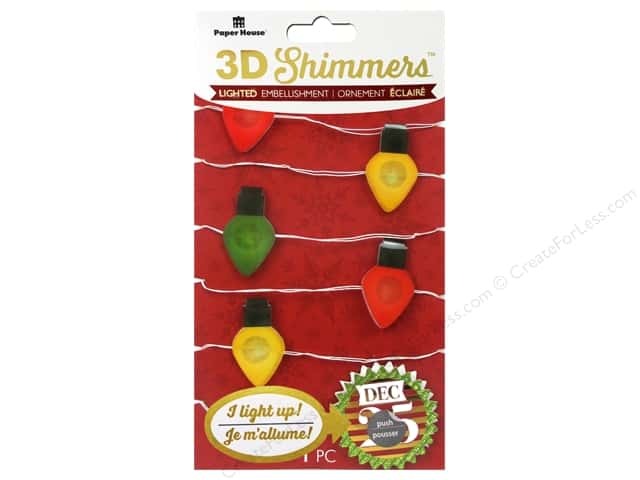 Paper House Sticker 3D LED Shimmer Christmas Light Garland