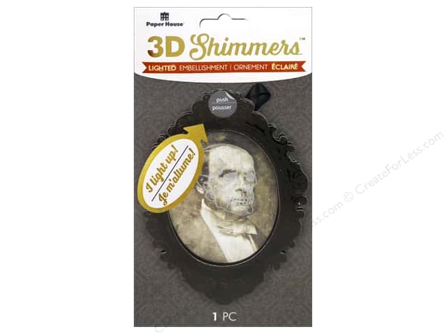Paper House Sticker 3D LED Shimmer Creepy Portrait