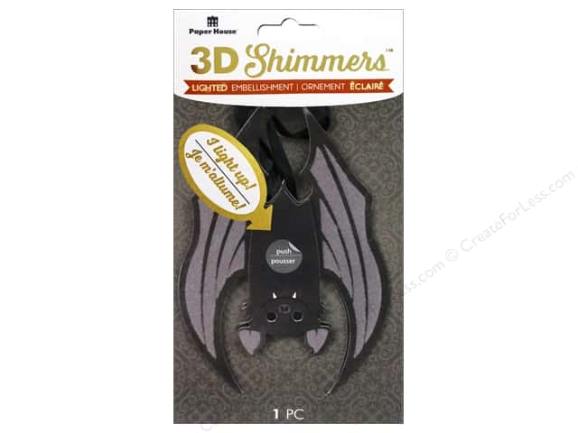 Paper House Sticker 3D LED Shimmer Bat