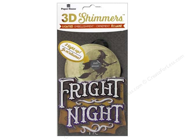 Paper House 3D Shimmers Stickers - Witch