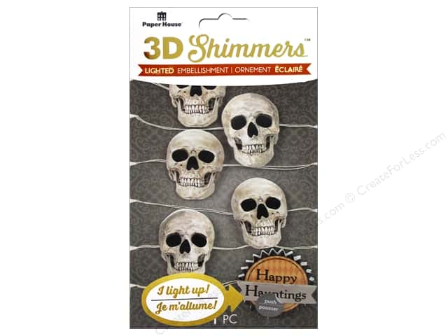 Paper House Sticker 3D LED Shimmer Skull Garland