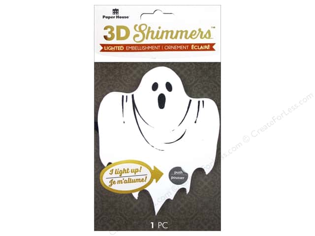Paper House 3D Shimmers Stickers - Ghost