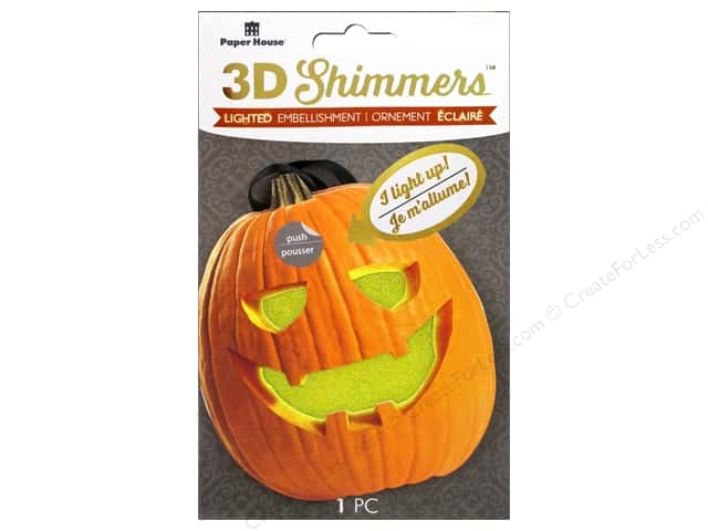 Paper House Sticker 3D LED Shimmer Jack-O