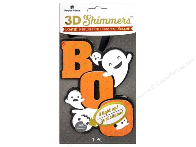 Paper House Sticker 3D LED Shimmer Boo